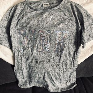 💖 Victoria Secret Pink Grey Top 💖